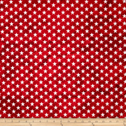 Marblehead Valor Straight Stars Red Fabric