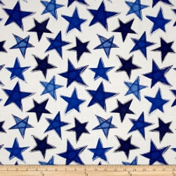Marblehead Valor Large Stars Blue/White Fabric