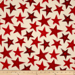Marblehead Valor Large Stars Red/Beige Fabric