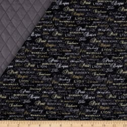 C'Est La Vie Double Sided Quilted Words Grey