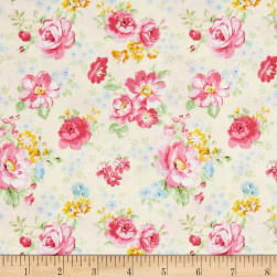 Doo Dads Calico Ecru Fabric