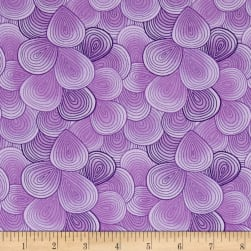 Doo Dads Waves Purple Fabric