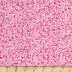 Doo Dads Swirls Pink Fabric