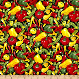 Farmer John Garden Peppers Multi Fabric