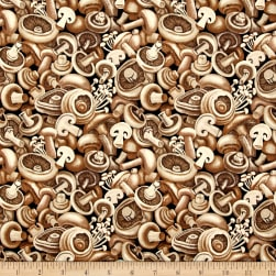 Farmer John Garden Mushrooms Fabric