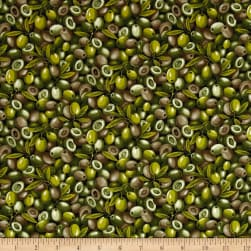 Farmer John Garden Green Olives Fabric