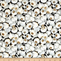 Farmer John Garden Garlic Black Fabric
