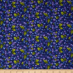 Farmer John Garden Blueberries Fabric