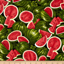Farmer John Garden Watermelon Fabric