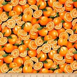 Farmer John Garden Oranges Fabric