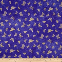 Flights Of Fancy Texture Purple Metallic Fabric