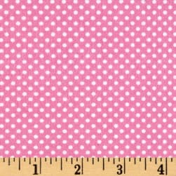 Flannel Dots Pink Fabric