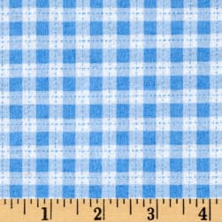 Flannel Gingham Blue Fabric