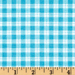 Flannel Gingham Turquoise