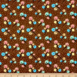Woodland Friends Dots Brown Fabric
