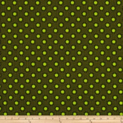 Woodland Friends Dots Green/Lime Fabric