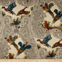 P Kaufmann Game Birds Teak Twill Fabric