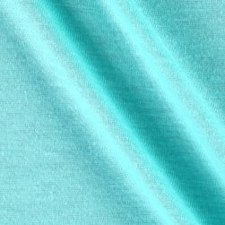 Polyester Jersey Knit Solid Light Turquoise Fabric