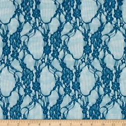 Stretch Summer Floral Lace Cobalt