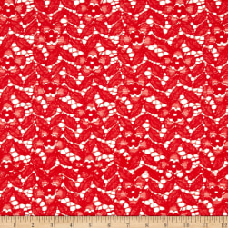 Crochet Lace Floral Coral Lace Fabric