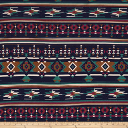 Stretch Poly Spandex Jersey Knit Tribal Medallion Diamonds