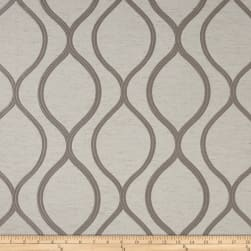 Eroica Lancaster Jacquard Silver Fabric