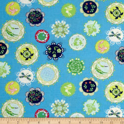 Moda Manderley Little World Bright Sky Fabric