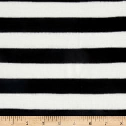 Lightweight Sweater Knit Medium Black Stripes on Ivory