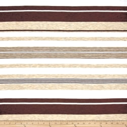 Jersey Knit Multi Stripes Brown/Oat and Ivory