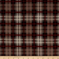 Crepe de Chine Checkered Brown Fabric