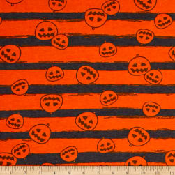 Fabric Merchants Cotton Spandex Jersey Knit Pumpkin Party