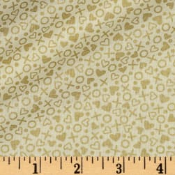 Forever Yours Metallic XOXO Cream Fabric