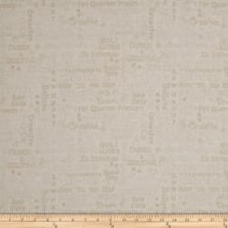 Shop Hop Words Cream Fabric