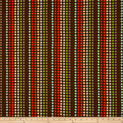 Clean Living Dots Brown Fabric