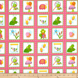 Bugs Flannel Bugs In Squares Pink Fabric