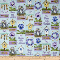 Pretty As A Pansy Garden Patch Light Blue/Purple