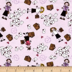 Alpine Flannel Sister Missionary Lilac Fabric