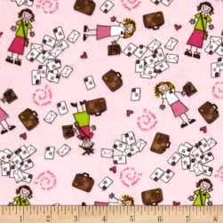 Alpine Flannel Sister Missionary Pink Fabric