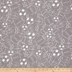 Alpine Flannel Sports Balls Gray