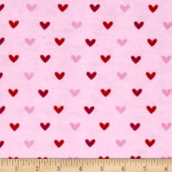 Alpine Flannel Hearts Pink