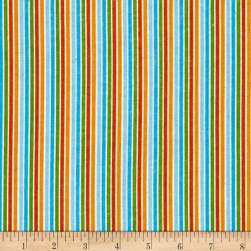 Alpine Flannel Stripe Orange Fabric