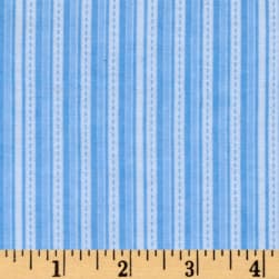 Alpine Flannel Stripe Medium Blue Fabric