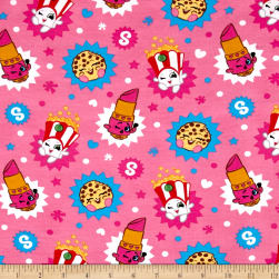 Moose Shopkins Toss Jersey Knit Multi Fabric