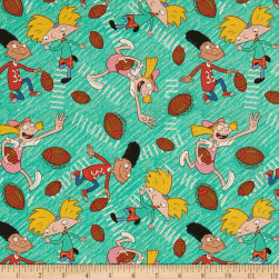 Nickelodeon 90's Hey Arnold Football Head Multi Fabric