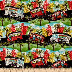 Food Truck Friday Multi/Blue Fabric
