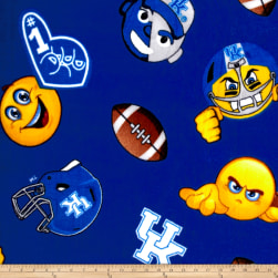 Collegiate Fleece University of Kentucky Emojis Fabric