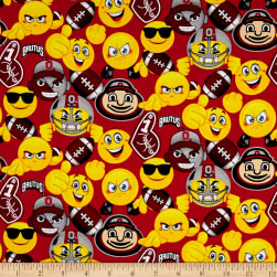 Collegiate Cotton Ohio State University Emojis Fabric