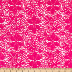 Designer Crochet Lace Pink Fabric