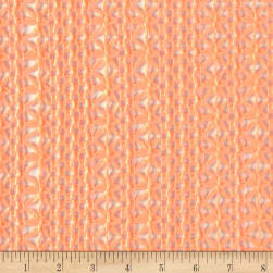 Crochet Caribe Lace Neon Orange Fabric