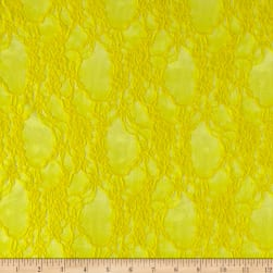 Stretch Lace Floral Sunny Yellow
